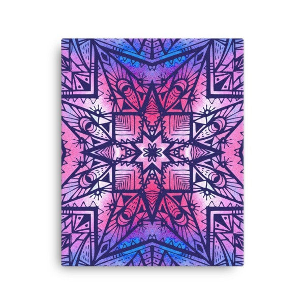 Purple geometric Canvas - Hutsylife - 2