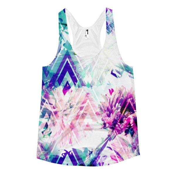 All over print - Spring floral Women's racerback tank