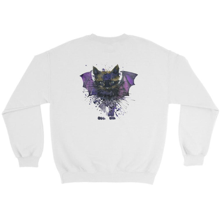 Hutsylife Crew - Bat Cat (Back print)