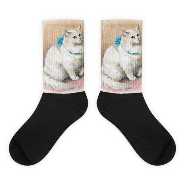 Snow cat Black foot socks