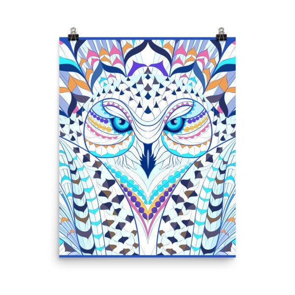 Snowy owl Poster - Hutsylife - 9