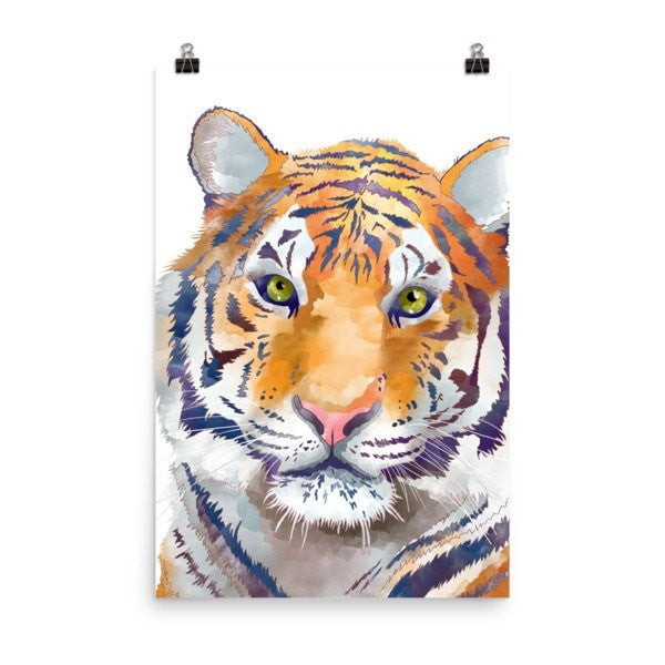 Watercolor Tiger Poster - Hutsylife - 8
