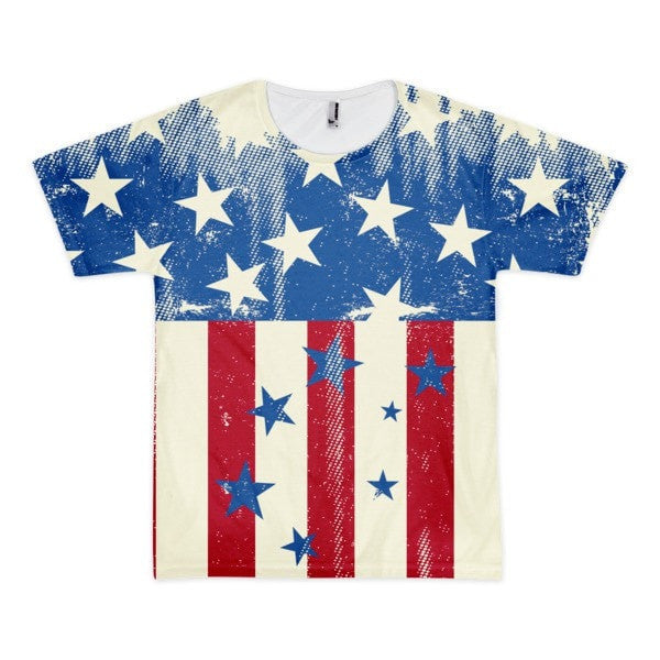 All over print - Patriot Rain Short sleeve men's t-shirt - Hutsylife - 1