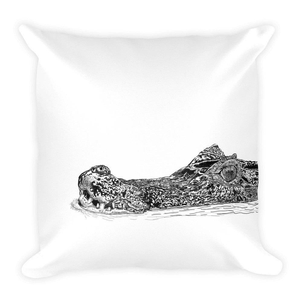 Bathing Croc pillowcase