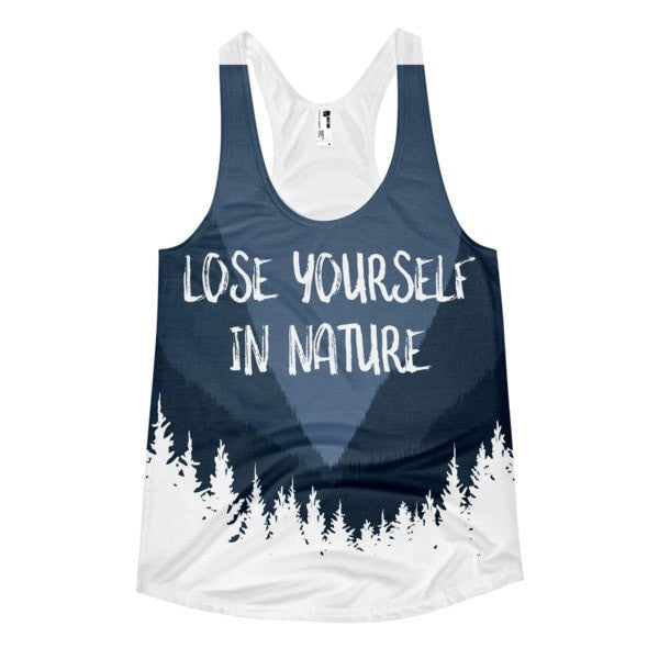 Lose yourself Women's racerback tank - Hutsylife