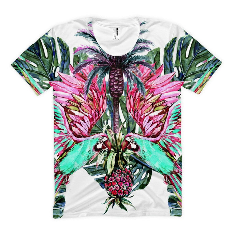 All over print - Parrots watch Women's sublimation t-shirt
