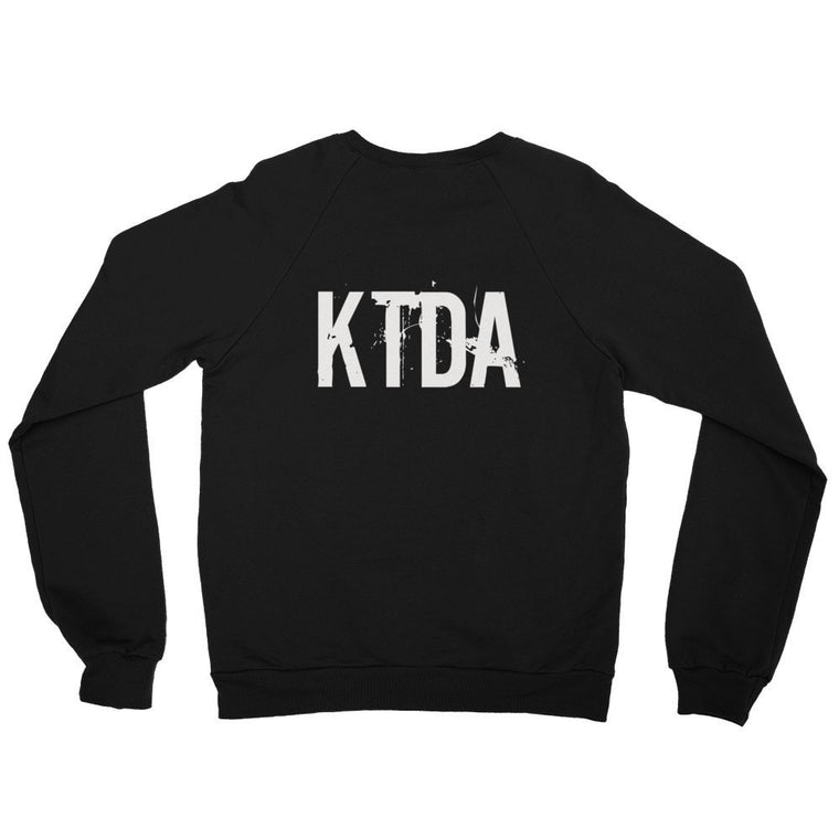KTDA Black Raglan sweater (Back Print)