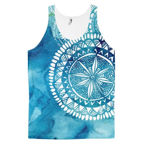 All over print - Classic fit tank Blue Veritas Men's tank top - Hutsylife - 1