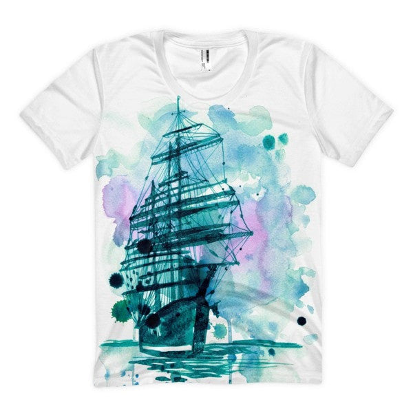 Wandering ship Women's sublimation t-shirt - Hutsylife