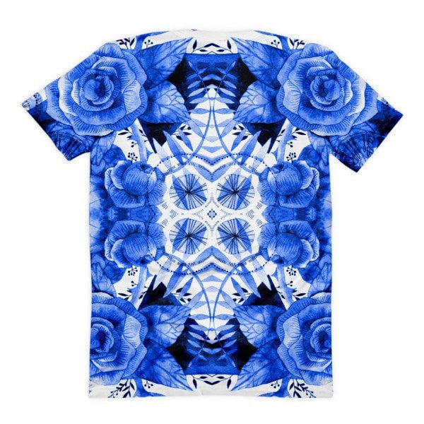 All over print - Boherian floral Women's sublimation t-shirt - Hutsylife - 2