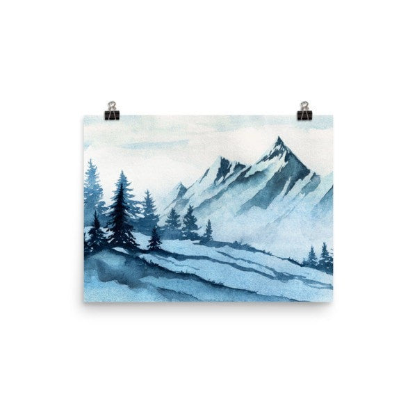 Watercolor mountain Poster - Hutsylife - 5