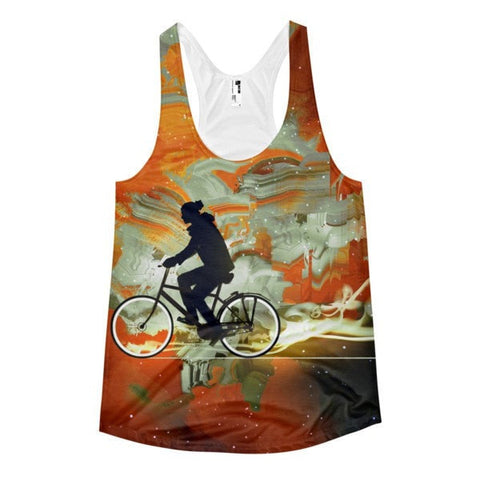 All over print - Bicycle universe Women's Racerback Tank