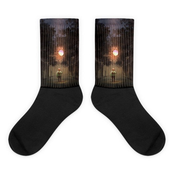 Glowning Balloon Black foot socks