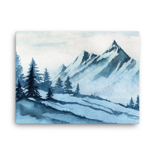 Watercolor mountain Canvas - Hutsylife - 3