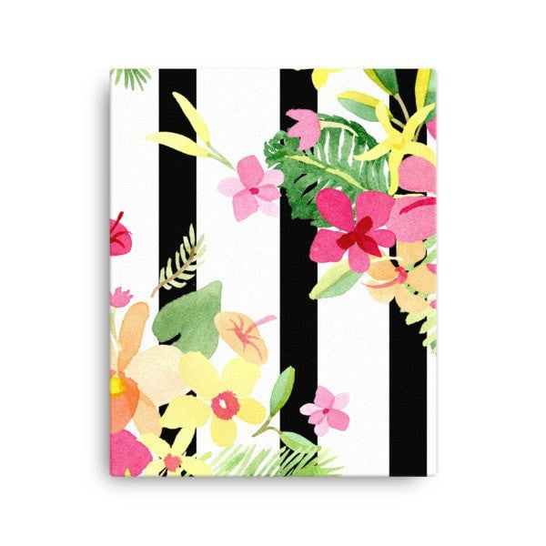 Stripe flower Canvas - Hutsylife - 2
