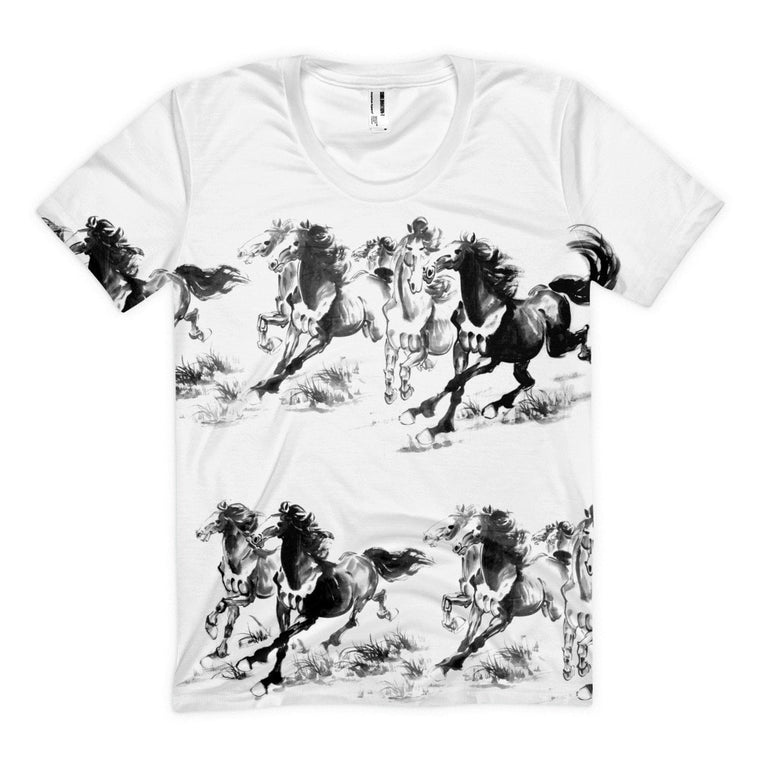 Frontal Print -Wind's Gallop Women's sublimation t-shirt