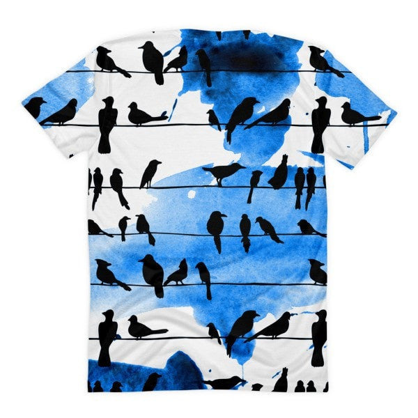 All over print - Chillin' birds Women's sublimation t-shirt - Hutsylife - 2