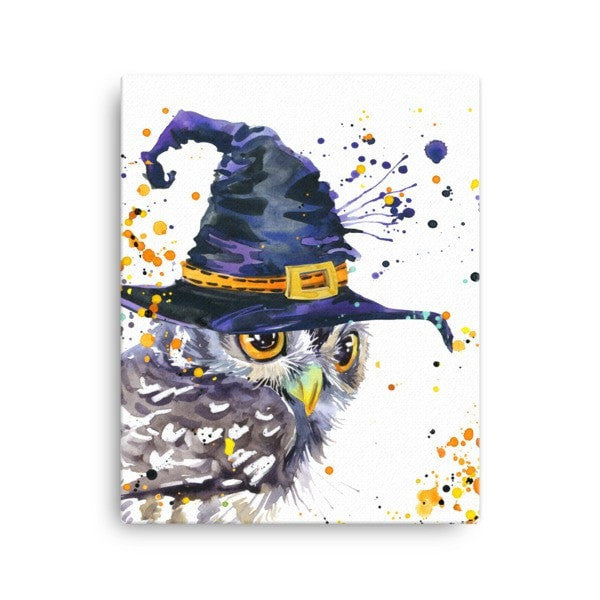 Owl wizard Canvas - Hutsylife - 2