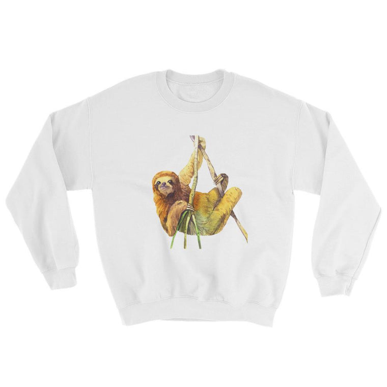 Watercolor Sloth Crewneck