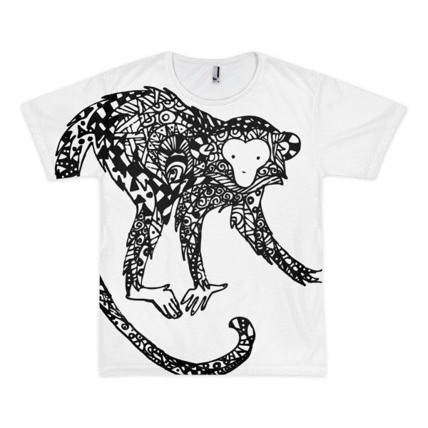 Curious monkey Short sleeve men's t-shirt - Hutsylife