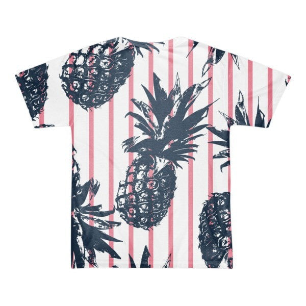 All over print - Pineapple stripes Short sleeve men's t-shirt - Hutsylife - 2
