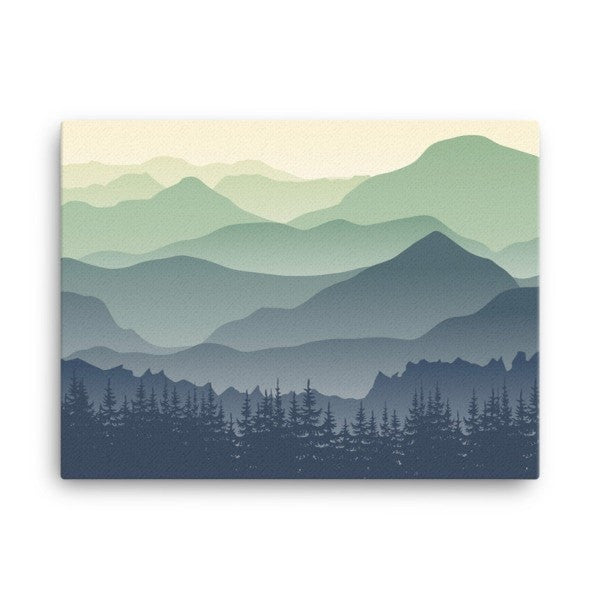 Mountain fog Canvas - Hutsylife - 3