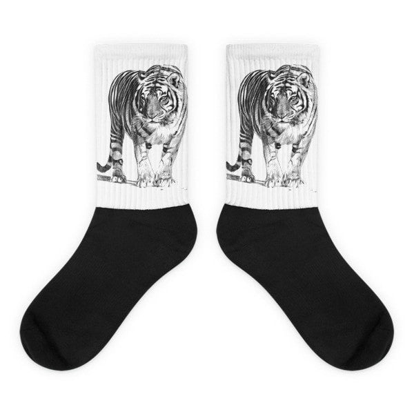 Bengal Tiger Black foot socks