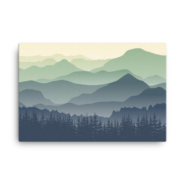 Mountain fog Canvas - Hutsylife - 4