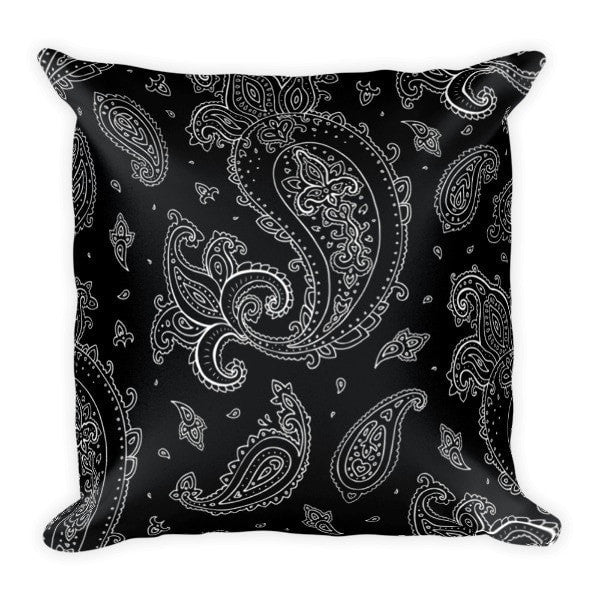 Black Paisely Pillowcase - Hutsylife - 2