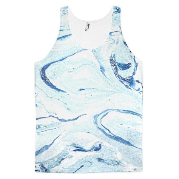 All over print - Aqua marble Classic fit men's tank top