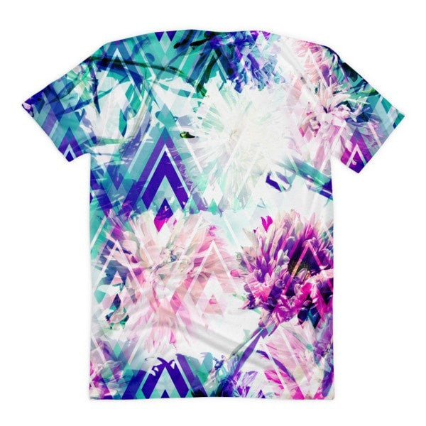 All over print - Spring floral Women's sublimation t-shirt - Hutsylife - 2