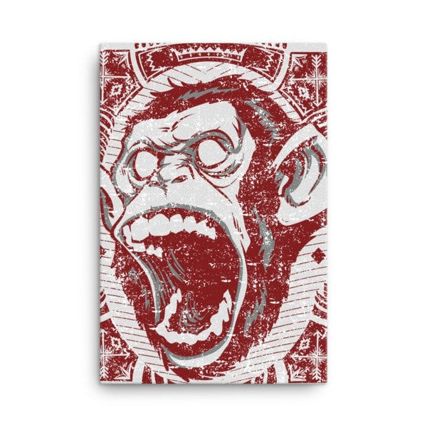 Angry monkey Canvas - Hutsylife - 4