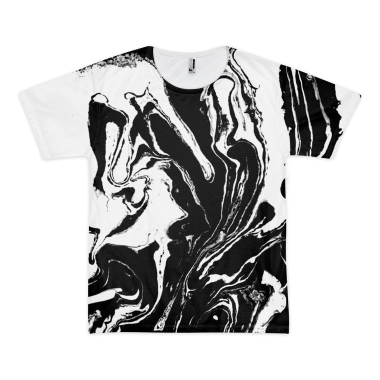 All over print - Black marble Short sleeve men's t-shirt