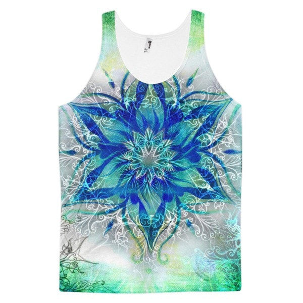 All over print - Ornamental blue Classic fit men's tank top - Hutsylife - 1