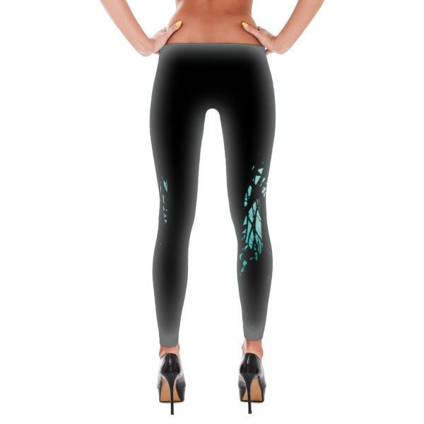 Green forest way Leggings - Hutsylife - 2