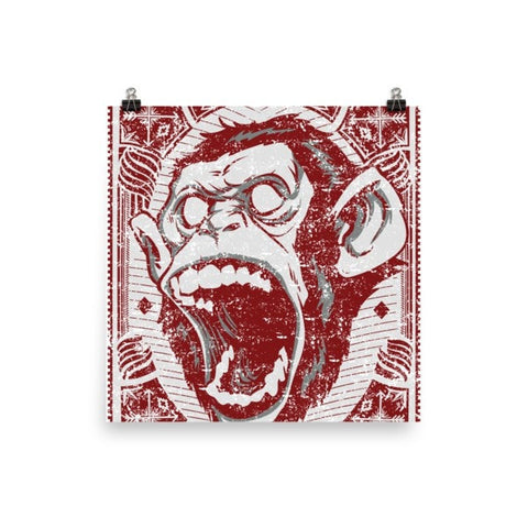 Angry monkey Poster