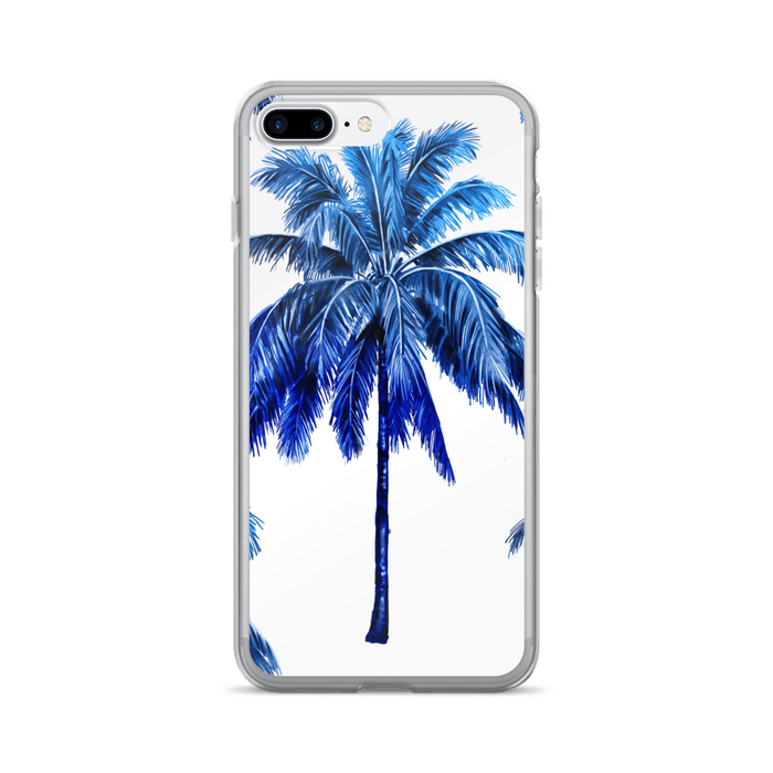 Blue palm iPhone case