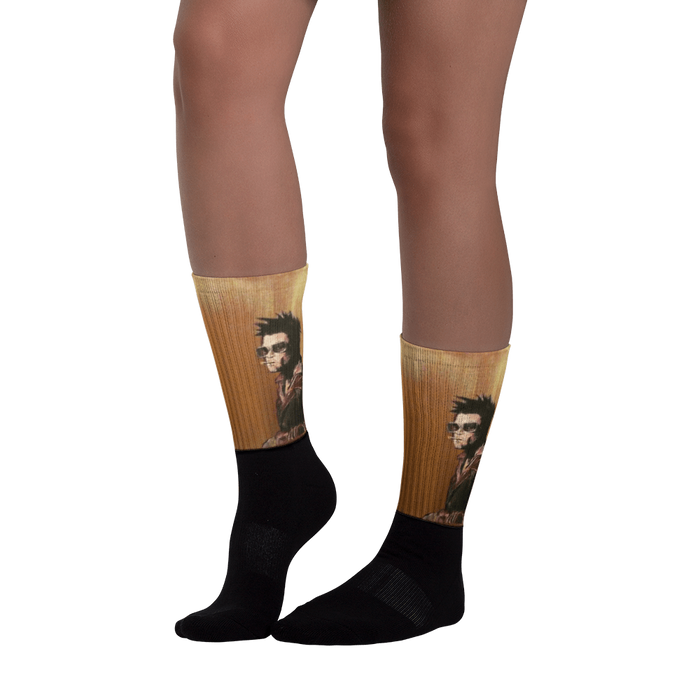Tyler Durden Black foot socks