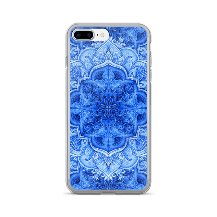 Blue Moroccan floral iPhone case