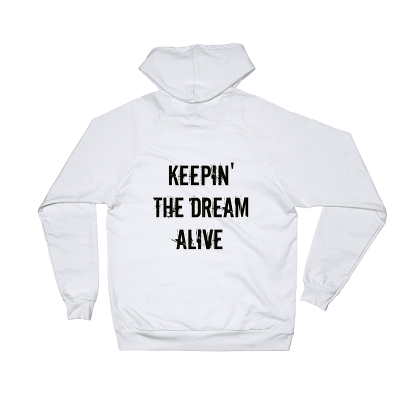 The Dream Classic White Hoodie (Back Print)