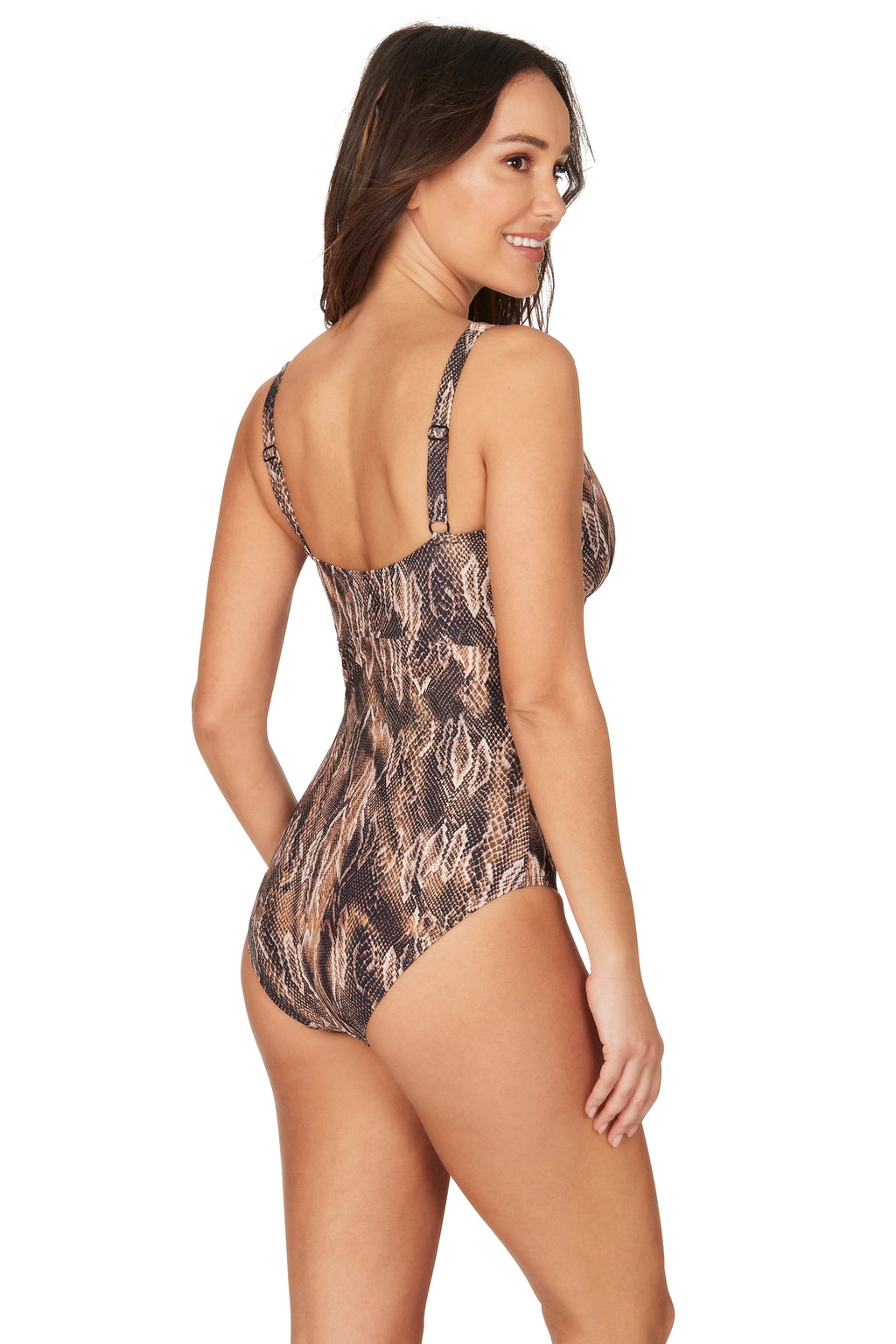 Rattle Me Aileen V Neck Design Tummy Control One Piece Swimsuit