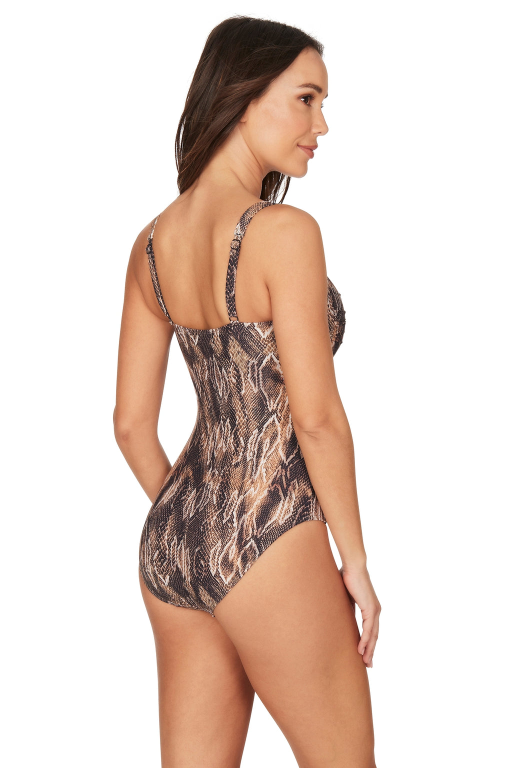 Rattle Me Joanne Twist Front Design Tummy Control One Piece Swimsuit