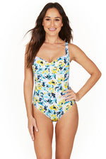Before Sunrise Twist Front Design Tummy Control One Piece Swimsuit