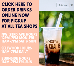 Order Drinks for Delivery from Tea Chai Te Burnside - Save 15% Off - Use Code COVIDSUCKS