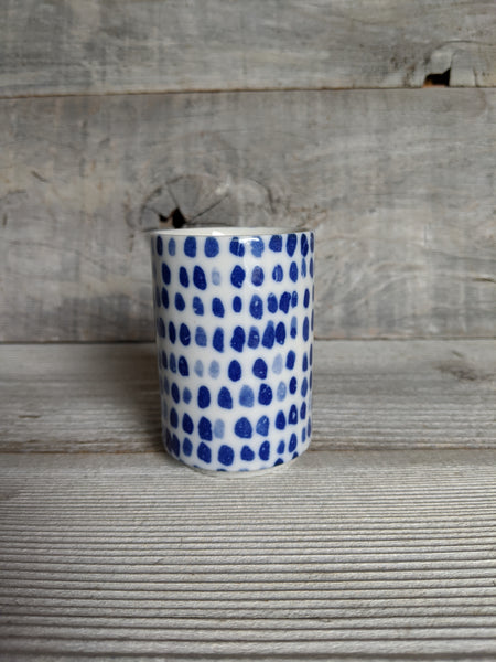 Indigo Blue Dot Cup