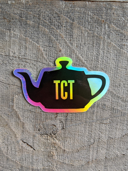TCT Sticker Holographic Teapot