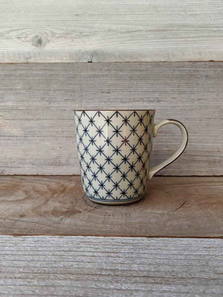 Antique Kimono Mug - Lattice