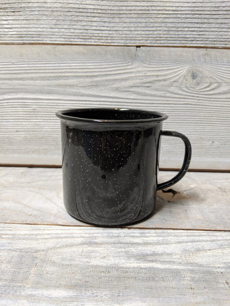 Black Speckle Camp Mug