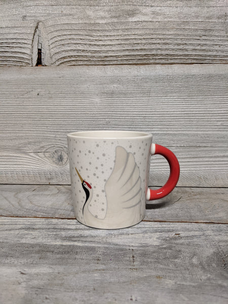 Red Handled Crane Mug