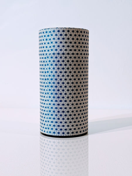 Washi Tea Canister 200g - Ko-Asa Ivory & Blue Hemp